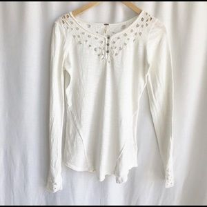 Free People long sleeve white shirt